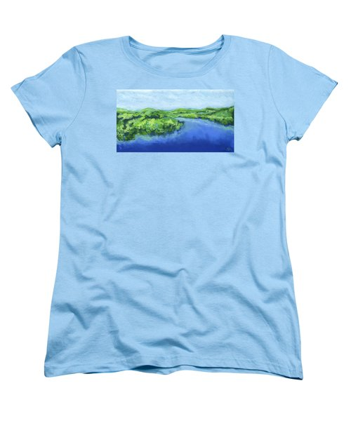 River Bend Women's T-Shirt (Standard Cut) by Stephen Anderson