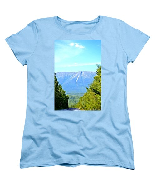 Road To Katahdin Women's T-Shirt (Standard Cut) by Tara Potts
