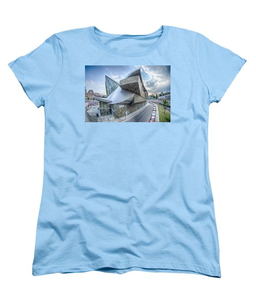 Roanoke Virginia City Skyline In The Mountain Valley Of Appalach Women's T-Shirt (Standard Cut) by Alex Grichenko
