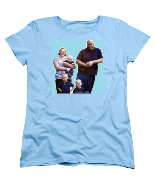 Women's T-Shirt (Standard Cut) featuring the painting Robert Nutting Family by Bruce Nutting