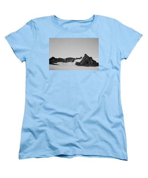 Women's T-Shirt (Standard Cut) featuring the photograph Rock And Sand by Lana Enderle
