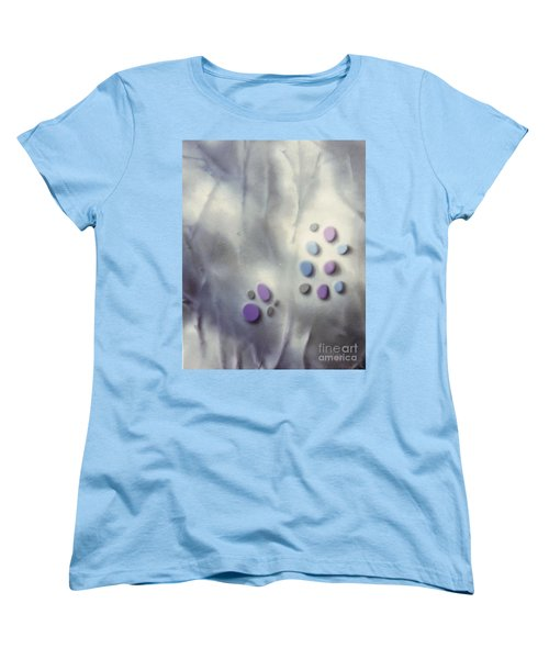Rock Painting Lavender And Gray With Twigs Women's T-Shirt (Standard Cut)