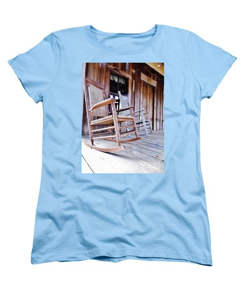 Rocking On The Front Porch Women's T-Shirt (Standard Cut) by D Hackett