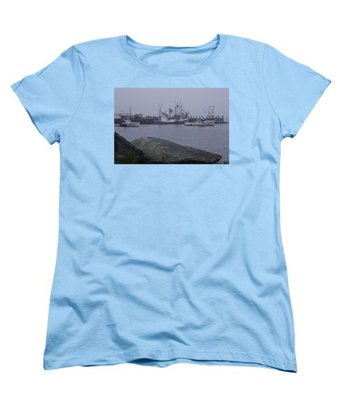 Women's T-Shirt (Standard Cut) featuring the photograph Rockland Me by Daniel Hebard