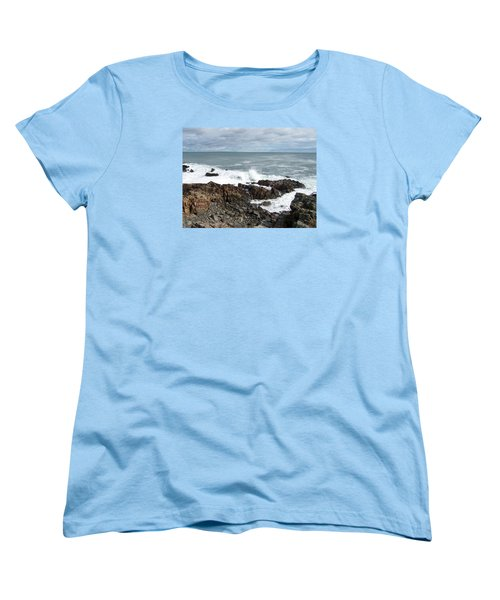 Rocky Coast Women's T-Shirt (Standard Cut) by Catherine Gagne