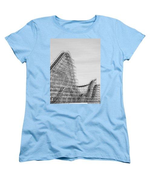 Roller Coaster Wildwood Women's T-Shirt (Standard Cut) by Eric  Schiabor