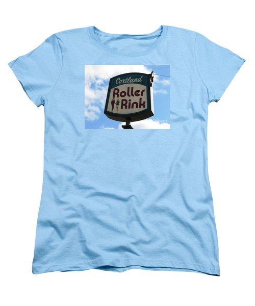 Roller Rink Women's T-Shirt (Standard Cut) by Michael Krek