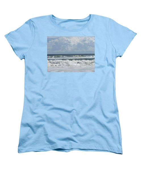 Rolling Clouds And Waves Women's T-Shirt (Standard Cut)