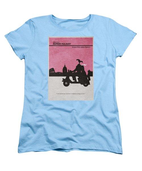 Roman Holiday Women's T-Shirt (Standard Cut) by Ayse Deniz