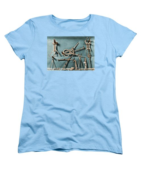 Women's T-Shirt (Standard Cut) featuring the photograph Roman Surgical Instruments, 1st Century by Science Source