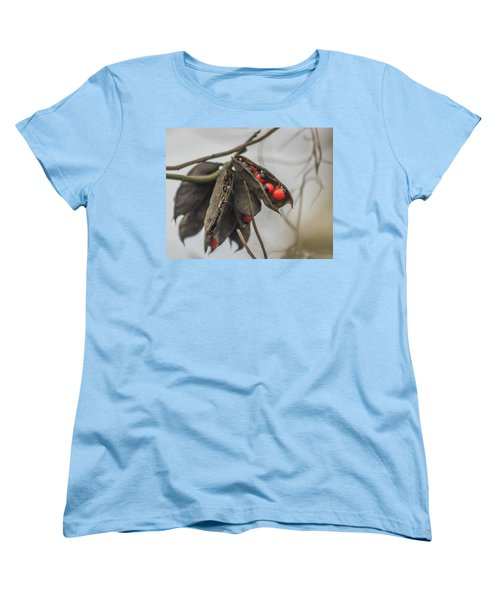 Rosary Pea Women's T-Shirt (Standard Cut) by Jane Luxton