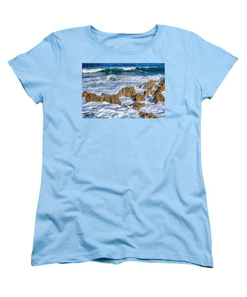 Women's T-Shirt (Standard Cut) featuring the photograph Ross Witham Beach Stuart Florida by Olga Hamilton