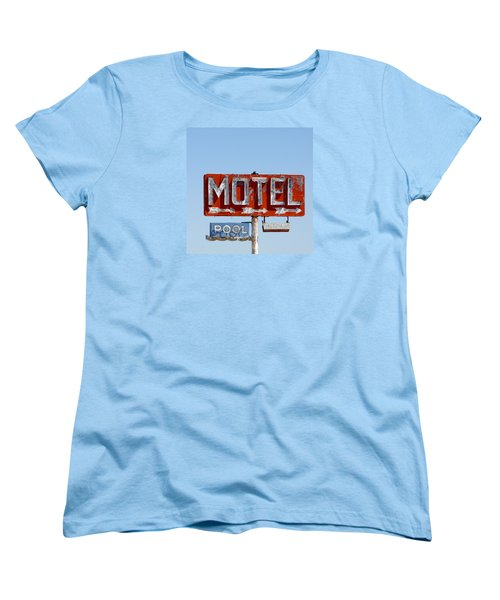 Route 66 Motel Sign Women's T-Shirt (Standard Cut) by Art Block Collections