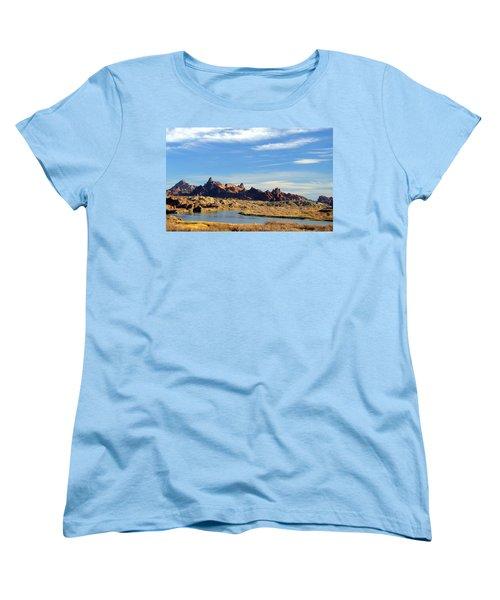 Route 66 Needles Mtn Range Two  Sold Women's T-Shirt (Standard Cut) by Antonia Citrino