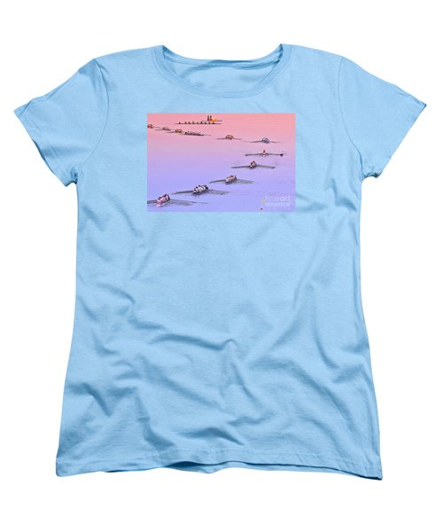 Rowers Arc Women's T-Shirt (Standard Cut) by Gary Holmes