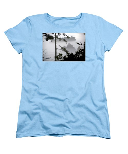 Ruby Beach Washington State Women's T-Shirt (Standard Cut) by Greg Reed