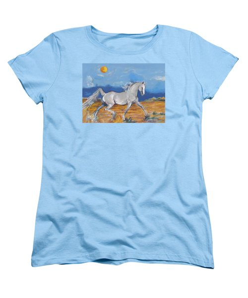 Running Horse M Women's T-Shirt (Standard Cut) by Mary Armstrong