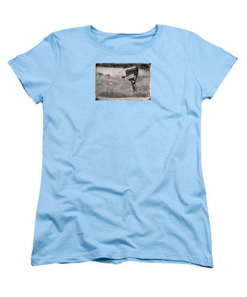 Women's T-Shirt (Standard Cut) featuring the photograph Rural Route Mail Call  by Jean OKeeffe Macro Abundance Art