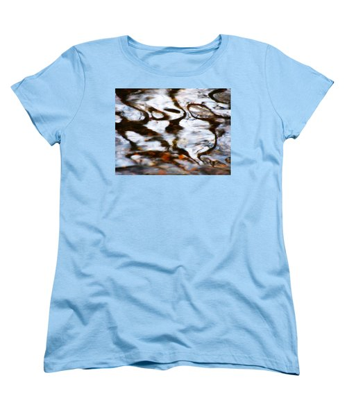Rushing Water Women's T-Shirt (Standard Cut) by Deborah  Crew-Johnson