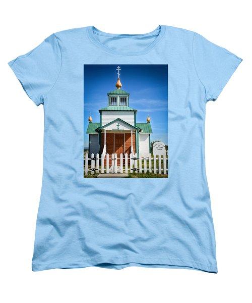 Russian Orthodox Church Women's T-Shirt (Standard Cut) by Andrew Matwijec