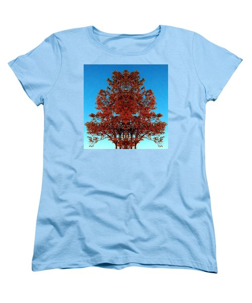 Women's T-Shirt (Standard Cut) featuring the photograph Rust And Sky 2 - Abstract Art Photo by Marianne Dow