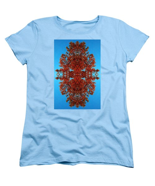 Women's T-Shirt (Standard Cut) featuring the photograph Rust And Sky 4 - Abstract Art Photo by Marianne Dow