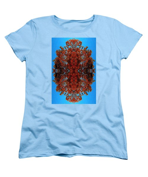 Women's T-Shirt (Standard Cut) featuring the photograph Rust And Sky 5 - Abstract Art Photo by Marianne Dow