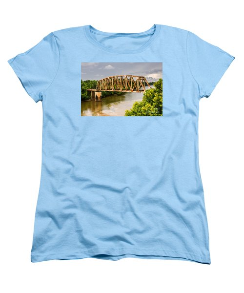 Rusty Old Railroad Bridge Women's T-Shirt (Standard Cut) by Sue Smith