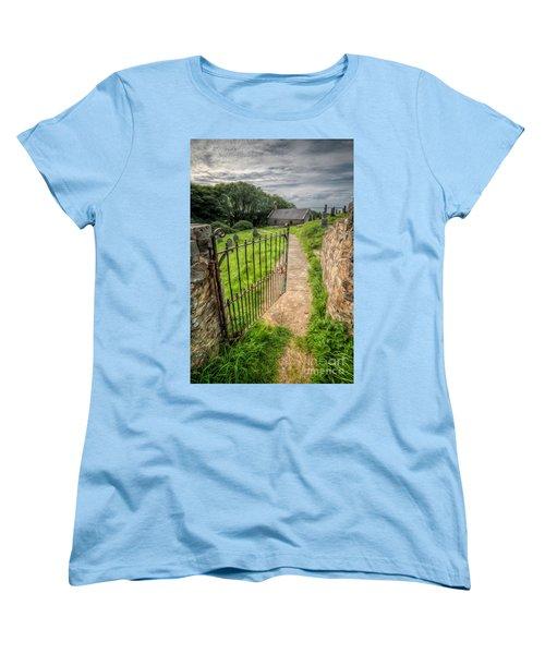 Sacred Path Women's T-Shirt (Standard Cut) by Adrian Evans