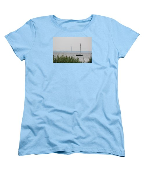 Women's T-Shirt (Standard Cut) featuring the photograph Sailboat by David Jackson