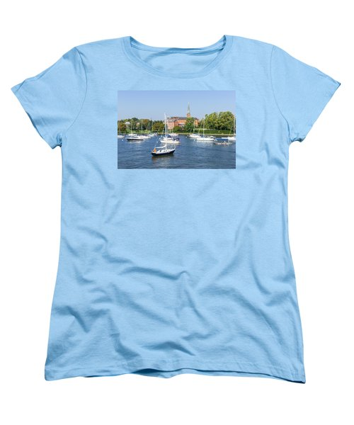 Women's T-Shirt (Standard Cut) featuring the photograph Sailboats By Charles Carroll House by Charles Kraus