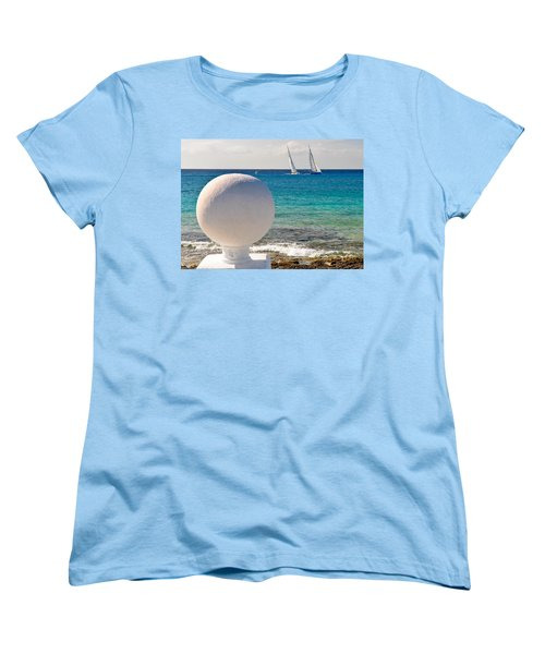Women's T-Shirt (Standard Cut) featuring the photograph Sailboats Racing In Cozumel by Mitchell R Grosky