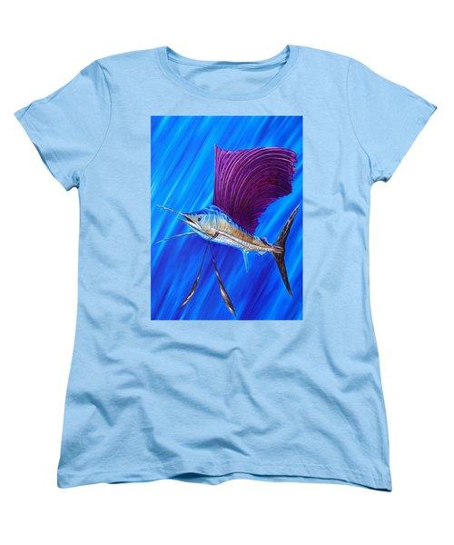 Sailfish Women's T-Shirt (Standard Cut) by Steve Ozment