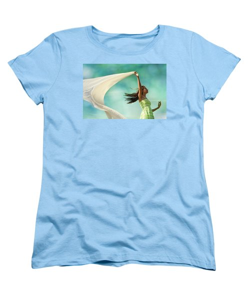 Sailing A Favorable Wind Women's T-Shirt (Standard Cut) by Laura Fasulo