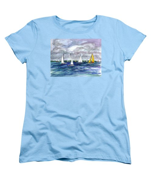 Sailing Day Women's T-Shirt (Standard Cut) by Clara Sue Beym