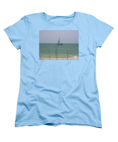 Women's T-Shirt (Standard Cut) featuring the photograph Sailing In The Gulf by D Hackett