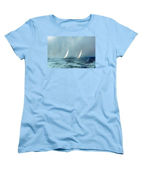 Sailing Into The Unknown Women's T-Shirt (Standard Cut) by Andrea Kollo
