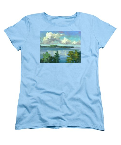Sailing On Puget Sound Women's T-Shirt (Standard Cut) by Diane McClary