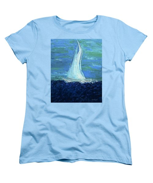 Sailing On The Blue Women's T-Shirt (Standard Cut) by Dick Bourgault