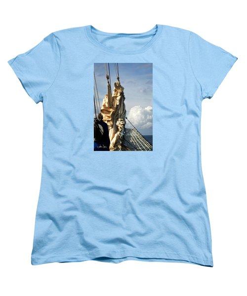 Women's T-Shirt (Standard Cut) featuring the photograph Sails by Joan Davis