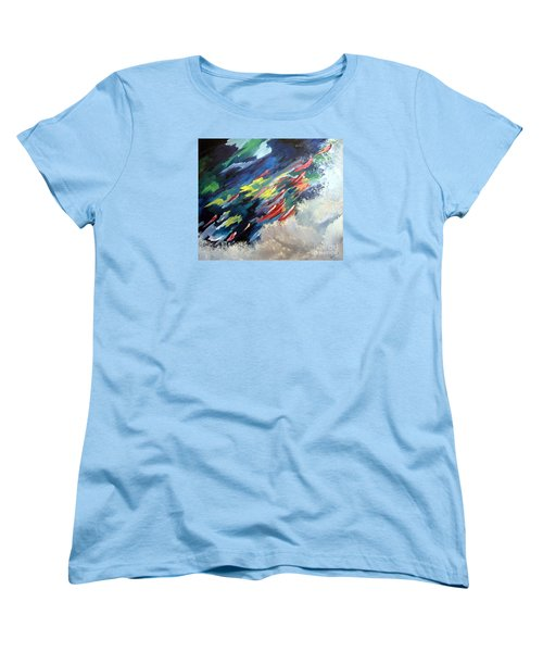 Salmon Run Women's T-Shirt (Standard Cut) by Carol Sweetwood
