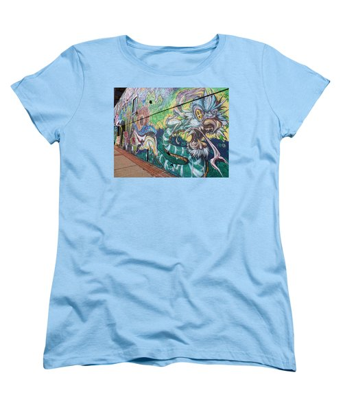 Women's T-Shirt (Standard Cut) featuring the photograph Salt Lake City - Mural 2 by Ely Arsha