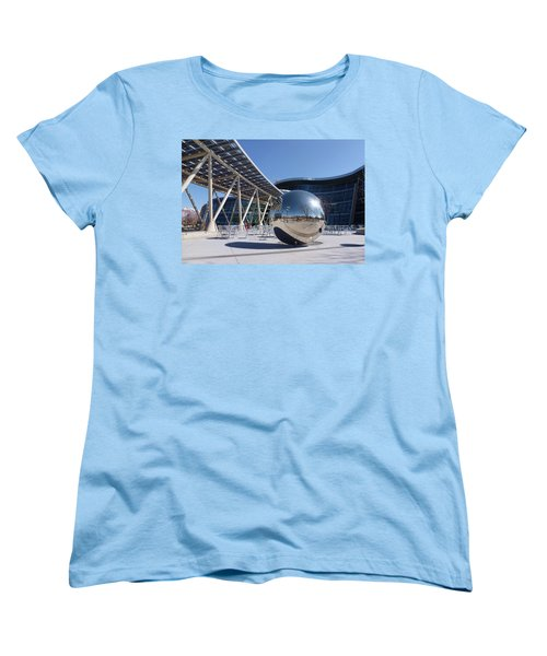 Women's T-Shirt (Standard Cut) featuring the photograph Salt Lake City Police Station - 1 by Ely Arsha