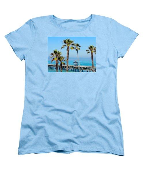 San Clemente Pier Women's T-Shirt (Standard Cut) by Suzanne Oesterling