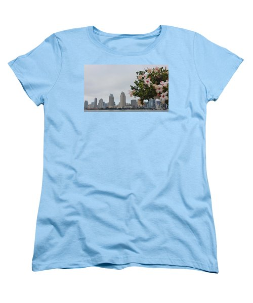 Women's T-Shirt (Standard Cut) featuring the photograph San Diego From Coronado View by Jasna Gopic