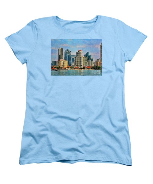 San Diego Skyline Women's T-Shirt (Standard Cut) by Peggy Hughes
