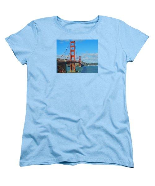 San Francisco's Golden Gate Bridge Women's T-Shirt (Standard Cut) by Emmy Marie Vickers