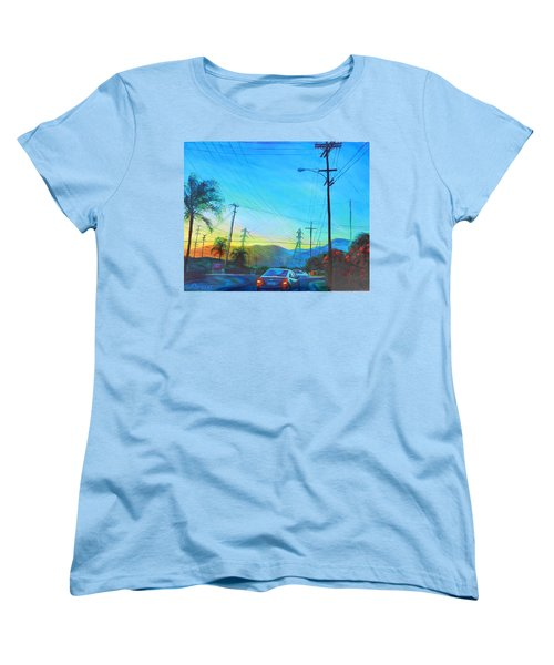 San Gabriel Rush Women's T-Shirt (Standard Cut) by Bonnie Lambert