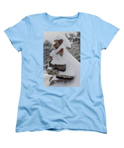 Women's T-Shirt (Standard Cut) featuring the photograph San Jacinto Balanced Rocks by Kyle Hanson