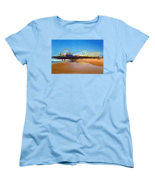 Sana Monica Pier Women's T-Shirt (Standard Cut) by Daniel Thompson